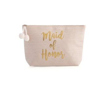 Maid of Honor Blush Zip Pouch