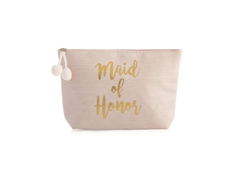 Shiraleah Maid of Honor Blush Zip Pouch