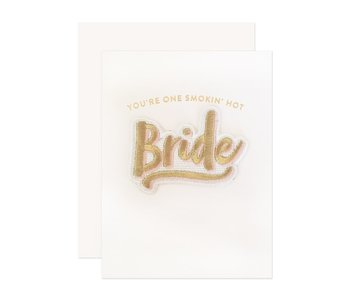 Bride Patch Wedding Greeting Card