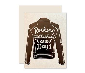 Rocking Fatherhood Greeting Card