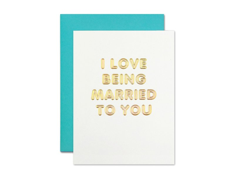 The Social Type I Love Being Married Greeting Card