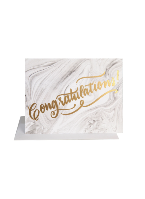 Congrats Marble Greeting Card