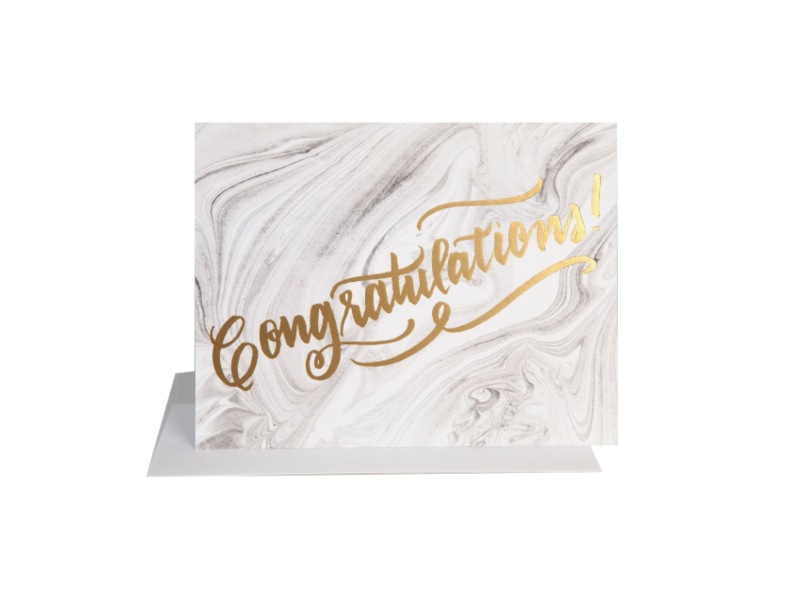 The Social Type Congrats Marble Greeting Card
