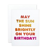 The Social Type Bright Birthday Greeting Card