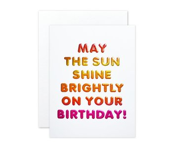 Bright Birthday Greeting Card