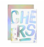 The Social Type Anniversary Cheers Hologram Greeting Card