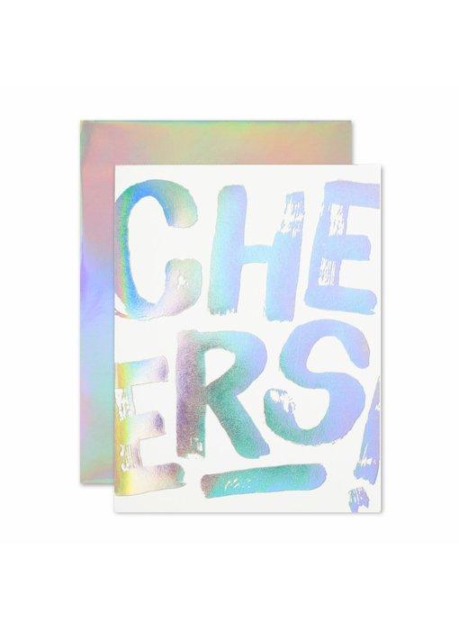 Anniversary Cheers Hologram Greeting Card