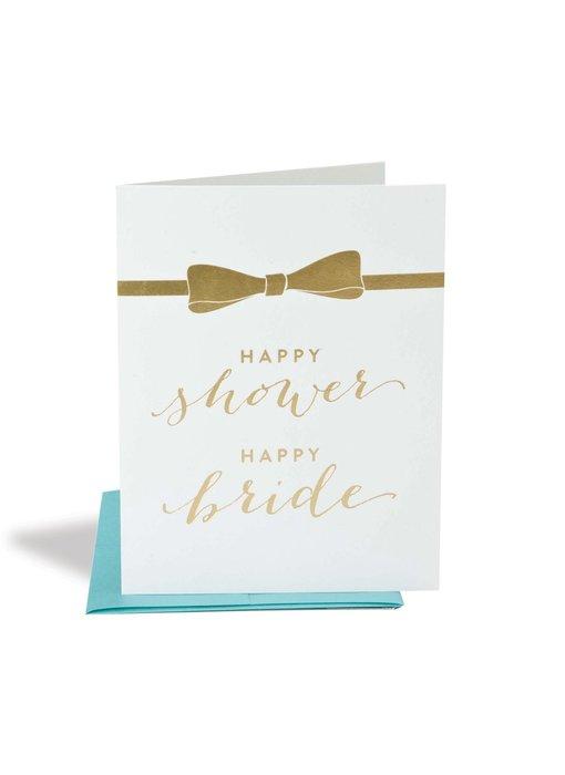 Happy Shower Happy Bride Wedding Card