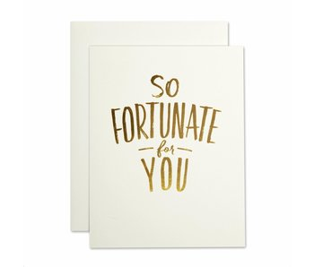 So Fortunate Thank You Greeting Card