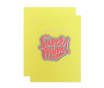 Super Mom Patch Greeting Card