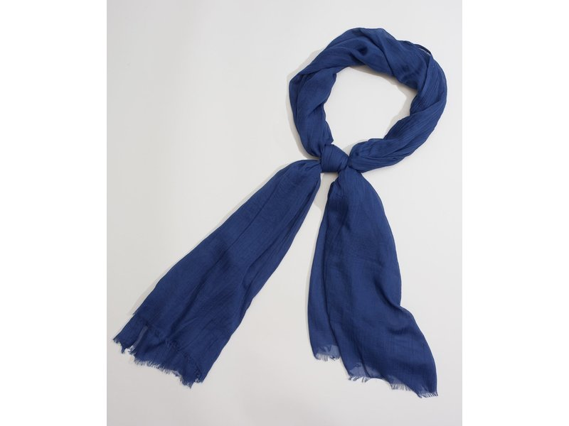 Echo Design New York Solid Crinkle Blue Scarf