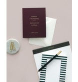 Smitten on Paper Green Stripe Chunky Notepad