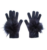 Linda Richards Cashmere Gloves with Fur Pom Pom