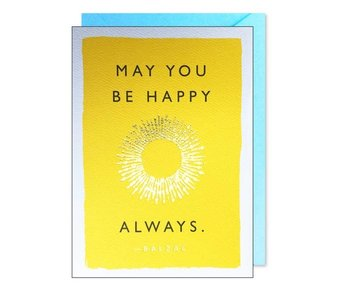 Be Happy Quote Greeting Card