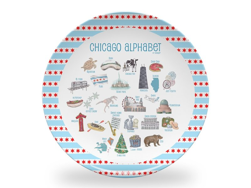 Dishique Chicago Alphabet Children's Plate
