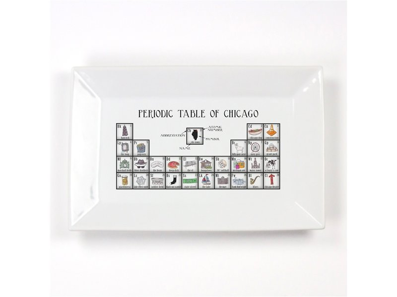 Dishique Chicago Periodic Table Platter