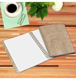 Studio Oh Gold Leatherette Spiral Journal