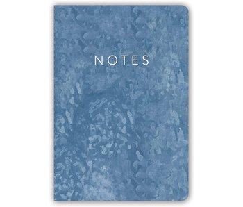 Slate Blue Leatherette Spiral Journal