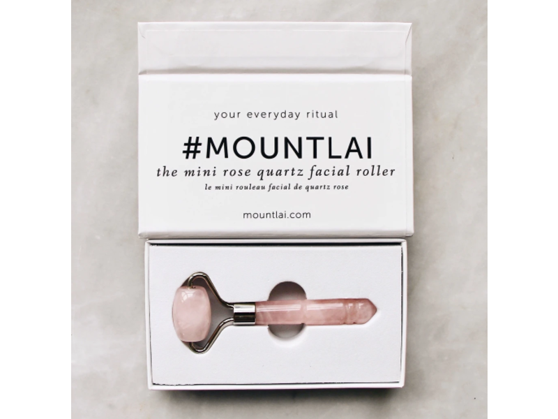 Mount Lai The Mini Rose Quartz Facial Roller