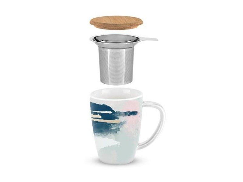True Brands Abstract Ceramic Tea Mug
