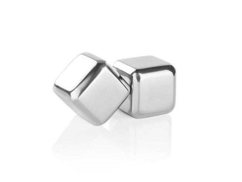 True Brands Glacier Rocks Large Stainless Steel Cubes