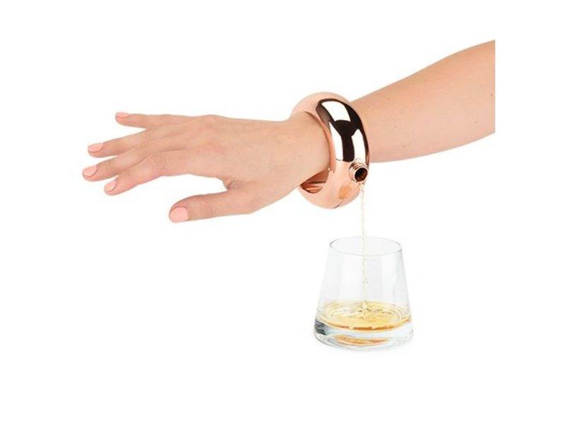 True Brands Rose Gold Bracelet Flask