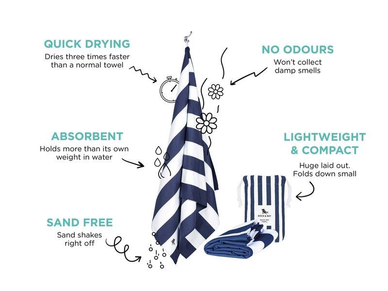 Doc & Bay One Tree Planted Cabana Beach Towel