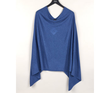 An Everyday Denim Blue Poncho