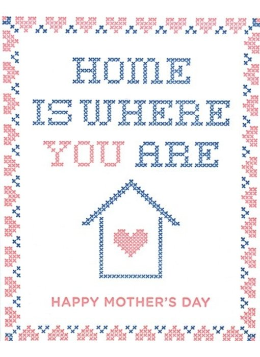 Cross Stitch Mother's Day Greeting Card