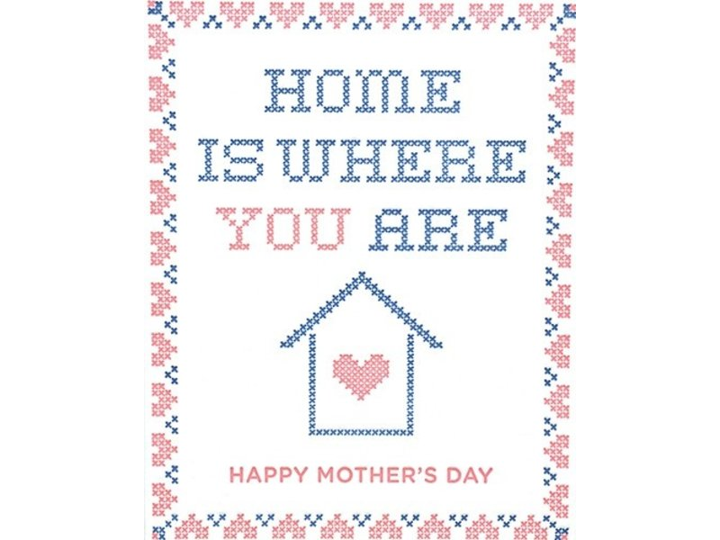 Good Paper Cross Stitch Mother's Day Greeting Card