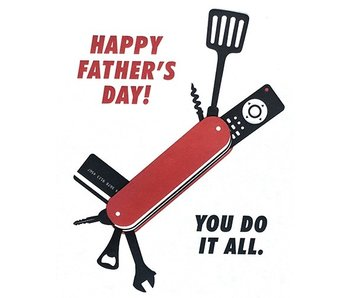 Do It All Dad Greeting Card