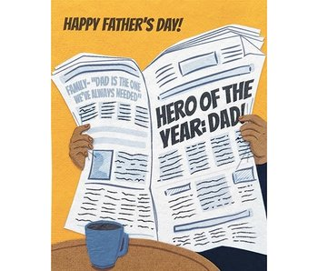 Father's Day News Greeting Card