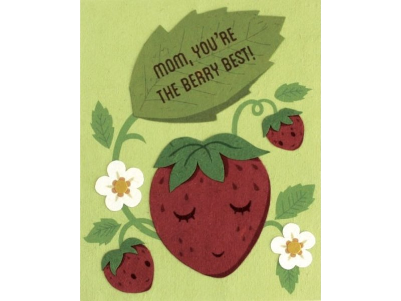 Good Paper Berry Best Mom Greeting Card