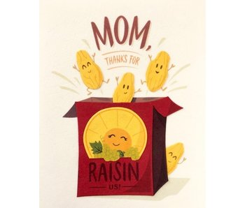 Raisin Mothers Day Greeting Card