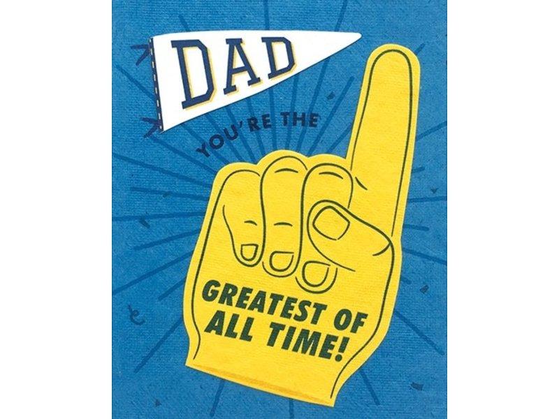 Good Paper Dad GOAT Greeting Card