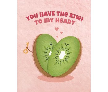Kiwi To My Heart Greeting Card