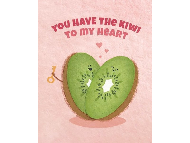 Good Paper Kiwi To My Heart Greeting Card