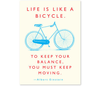 Quote Bicycle Einstein