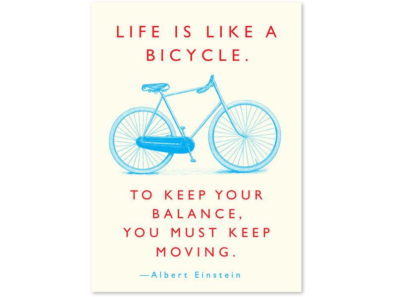 J. Falkner Quote Bicycle Einstein