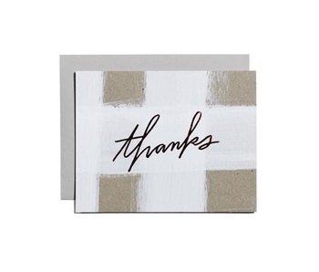 Thanks Check Greeting Card