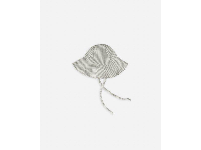 Rylee + Cru Olive Stripe Floppy Sun Hat