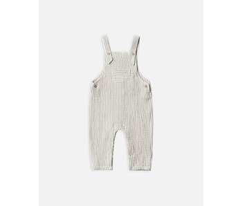 Olive Stripe Baby Overall