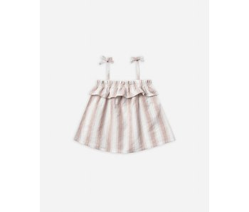 Petal Stripe Ruffle Tube Top