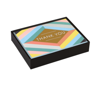 Geo Pastel Luxe Thank You Notecard