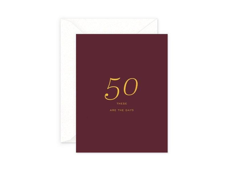 Smitten on Paper 50 Milestone Birthday Greeting