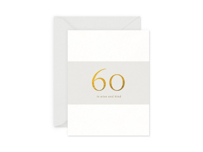 Smitten on Paper 60 Milestone Birthday Greeting Card