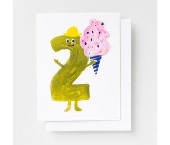 Birthday 2 Riso Greeting Card