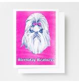 Yellow Owl Workshop Birthday Realness Riso Greeting Card