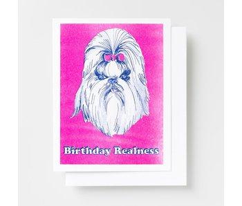 Birthday Realness Riso Greeting Card