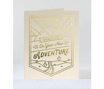 Monoline Adventure Congrats Greeting Card